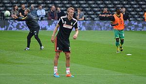 Dan Burn - Burn training for Fulham ahead of a match.