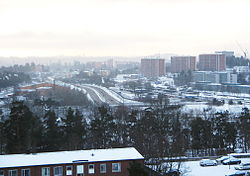 2006 wintertime view over Danderyd