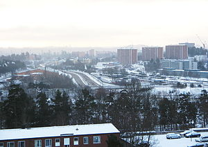 Danderyd Municipality - 2006 wintertime view over Danderyd