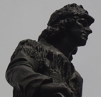 Enid Yandell - Daniel Boone statue (detail) at the foot of Eastern Parkway in Louisville