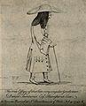 Daniel Taintarier, an eccentric barrister. Etching by E. Fau Wellcome V0007269.jpg