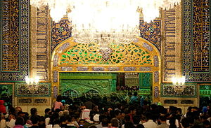 Ali al-Ridha - Pilgrims of Imam Ali Riza's Shrine in Mashhad, Khorasan