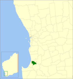 Shire of Dardanup - Location in Western Australia