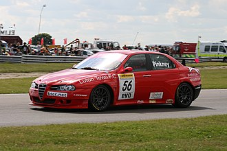 David Pinkney - Pinkney driving the A-Tech-run Alfa Romeo 156 during the Snetterton round of the 2007 British Touring Car Championship season.