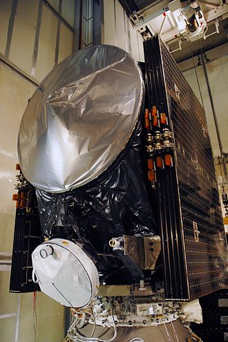 Dawn (spacecraft) - Dawn prior to encapsulation at its launch pad on July 1, 2007