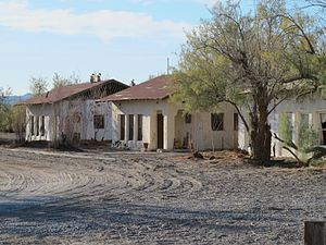 Death Valley Junction, California - Old buildings in the Historic District