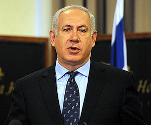 Israeli legislative election, 2013 - The winner of the Likud leadership election and number one of the Likud Beiteinu list - Benjamin Netanyahu.