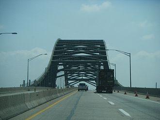 Delaware River–Turnpike Toll Bridge - Eastbound across the bridge