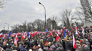 Committee for the Defence of Democracy - A KOD demonstration in Warsaw, on 19 December 2015.