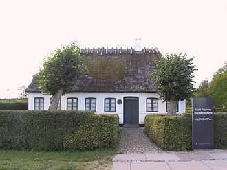 Sortelung - Carl Nielsen's childhood home, Sortelung, Denmark