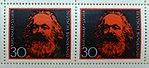Deutsche Bundespost, Karl Marx Briefmarken.jpg