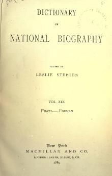 Dictionary of National Biography volume 19.djvu
