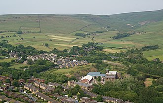 Diggle, Greater Manchester - Image: Diggle from Harrop Edge Geograph 1941039 by Bill Boaden