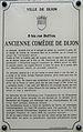 Dijon Ancienne Comédie plaque information.jpg