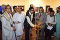 Dipak Kumar Chakraborty - Inaugural Lamp Lighting - Biswatosh Sengupta Solo Exhibition - Kolkata 2013-12-11 5062.JPG
