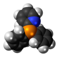 Diphenyl-2-pyridylphosphine molecule spacefill.png