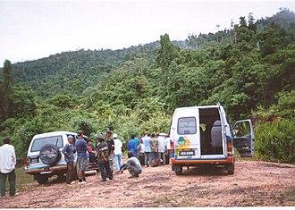 Mount Pueh - Image: Dirt road to the foot of the Berumput Pueh range