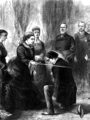 Disraeli receiving Order of the Garter.png