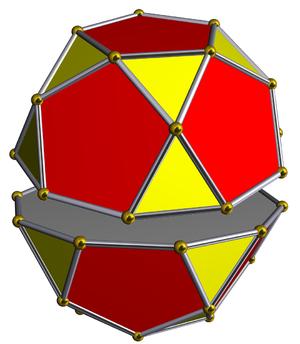 Pentagonal orthobirotunda - Image: Dissected icosidodecahedron