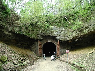 Elroy-Sparta State Trail - Just outside one of three railroad tunnels along the Elroy-Sparta Bike Trail