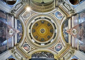 Chigi Chapel - The dome with the mosaics of Raphael.