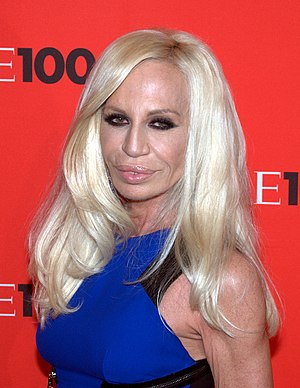 English: Donatella Versace at the 2010 Time 100.
