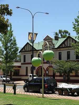 Donnybrook, Western Australia - Apple decorations along Donnybrook's main street