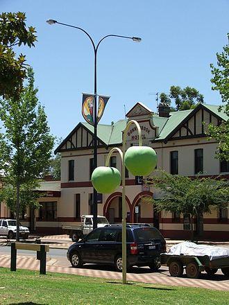 Donnybrook, Western Australia - Apple decorations along Donnybrook's main street