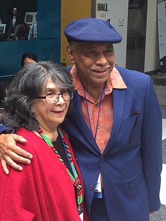 Joe Bataan - Bataan with Dorothy Cordova (founder of Filipino American National Historical Society at the 2016  FANHS Conference in New York City