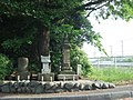 Dosojin (道祖神), Hachiken Shrine (八劔社) and Monument of Koshin (庚申塔) at Tango Bridge (丹後橋) - panoramio.jpg