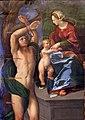 Dosso dossi, madonna coi ss. sebastiano e forse giorgio, 1517-18 ca. 02.jpg