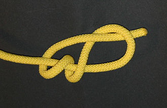 Stevedore knot (mathematics) - The common stevedore knot.  If the ends were joined together, the result would be equivalent to the mathematical knot.