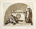 Drawing, Sepulchral Monument for Roman Cavina, Chiesa dell'Osservanza, Faenza, 1816 (CH 18116515).jpg