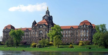 The Sachsische Staatskanzlei (Saxon State Chancellery) is an institution assisting the President of the State Dresden-Kultusministerium.jpg