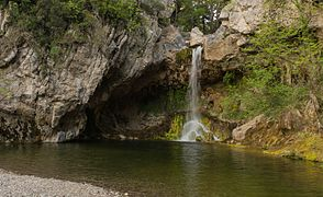 Drymona water fall and pool north Euboea Greece.jpg