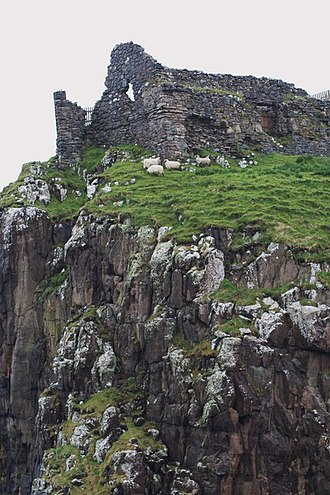 Clan Macdonald of Sleat - Duntulm Castle in Trotternish, Skye. Trotternish was the subject of territorial feuding between the Macdonalds of Sleat and MacLeods of Dunvegan in the 16th and early 17th centuries.