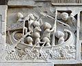 Duomo di massa marittima, esterno, episodi dlela vita di san cerbone, XIII secolo 02.jpg
