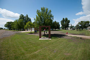 Dwight, North Dakota - Fire department bell in Dwight