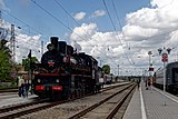 ER 739-99 steam locomotive at the station Taganrog-II DSC01640 2200.jpg
