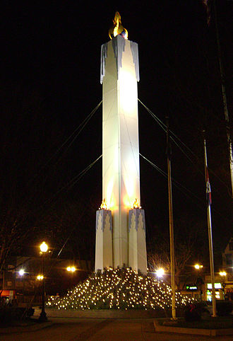 Peace Candle - The Peace Candle lit at night (2009)