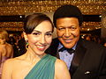 Eden Riegel and Chubby Checker at 2010 Daytime Emmy Awards.jpg