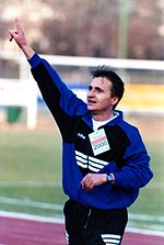 Edin Osmanović coaching in HIT Gorica