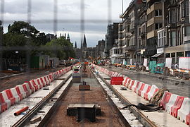 Edinburgh Tram Works 8th August 2009.JPG