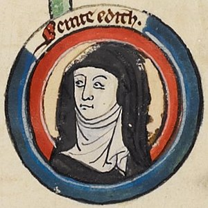 Wulfthryth of Wilton - Near contemporary drawing of Edith.