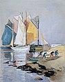 Edouard Doigneau - Séchage des voiles à Port-Tudy, île de Groix.jpg