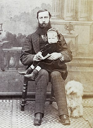 Edward Charles Bowra - Edward Charles Bowra, circa 1870. The child is possibly his daughter Ethel.
