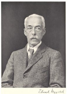 Edward Meyrick English entomologist and schoolmaster