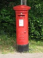 Edward VIII postbox, Waggon Road, Hadley Wood - geograph.org.uk - 1403293.jpg