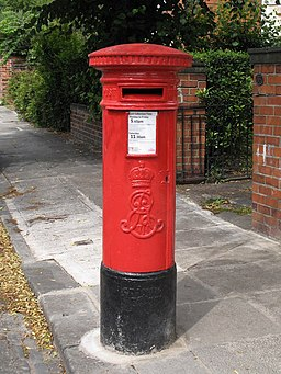 Edward VII postbox, Fern Avenue, Jesmond - geograph.org.uk - 1419845