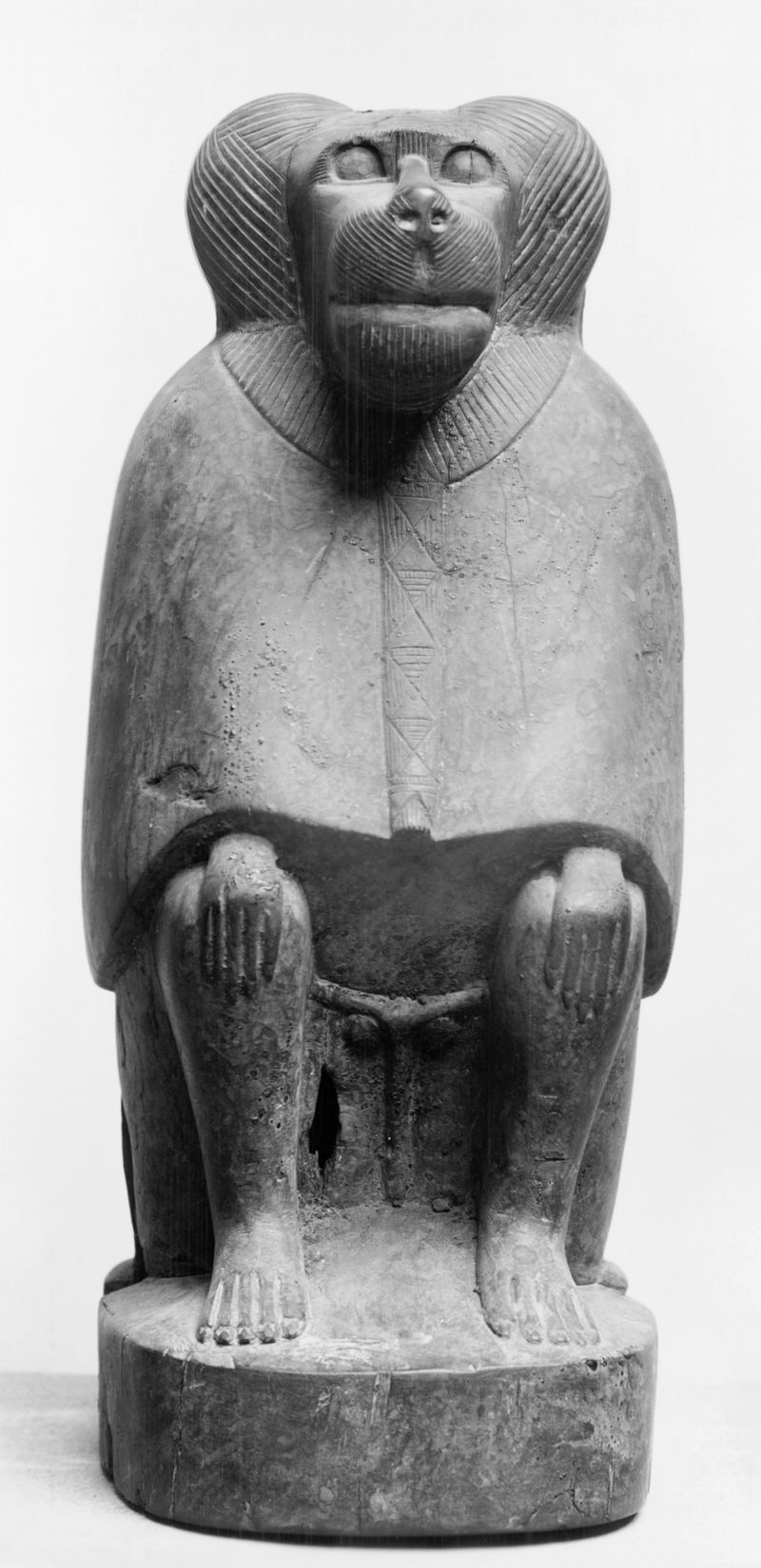 ataudes de animales 800px-Egyptian_-_Baboon_Mummy_Coffin_-_Walters_22245